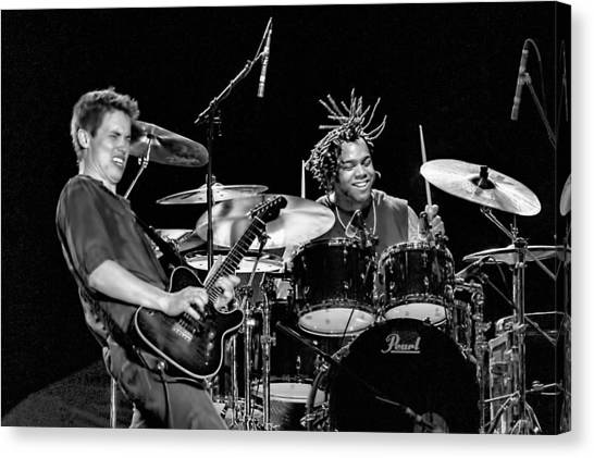 Barry Alexander Drumming For Johnny Lang Canvas Print