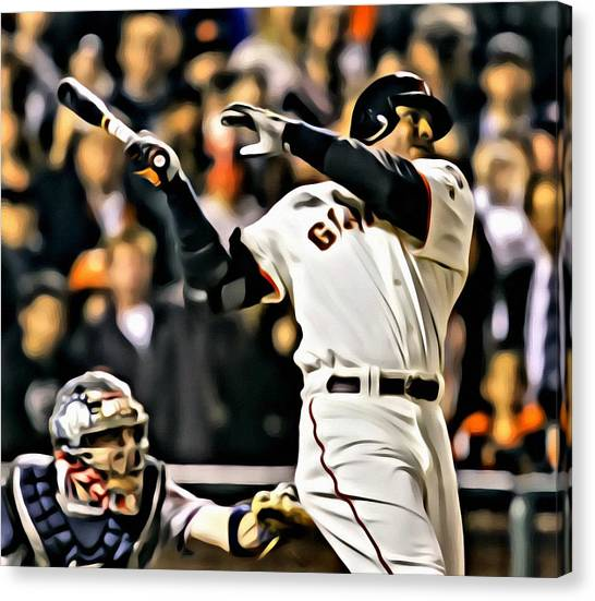 Pittsburgh Pirates Canvas Print - Barry Bonds Painting by Florian Rodarte