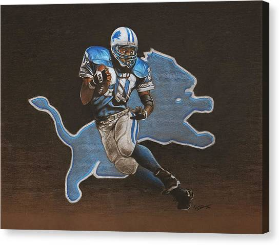 Barry Sanders Canvas Print - Barry Sanders by Jason VanderHoff