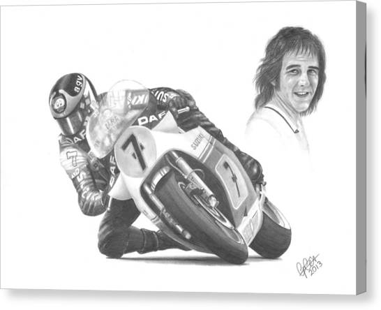 Barry Sheene Mbe Canvas Print