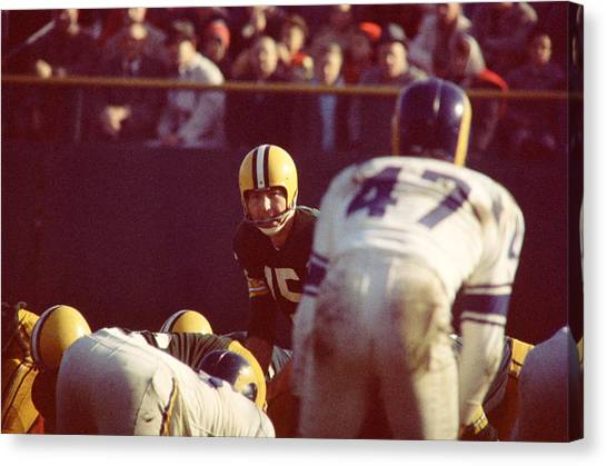 Los Angeles Rams Canvas Print - Bart Starr Calls Play by Retro Images Archive