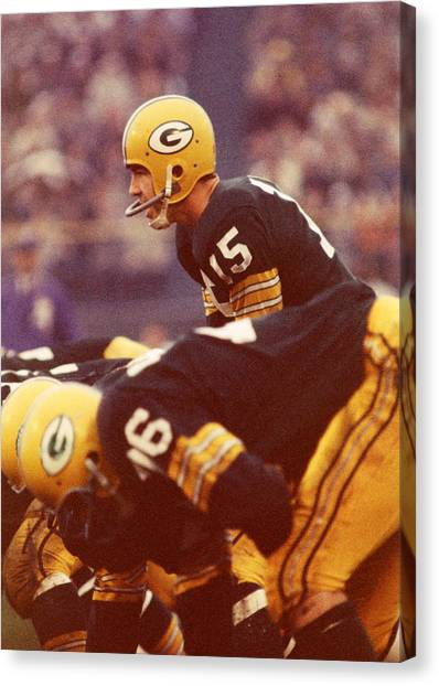 Football Canvas Print - Bart Starr In Charge by Retro Images Archive
