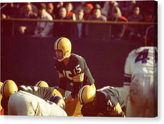 Los Angeles Rams Canvas Print - Bart Starr Looks Ahead by Retro Images Archive