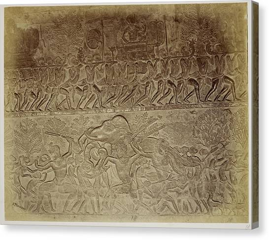 Serie A Canvas Print - Bas-relief by British Library