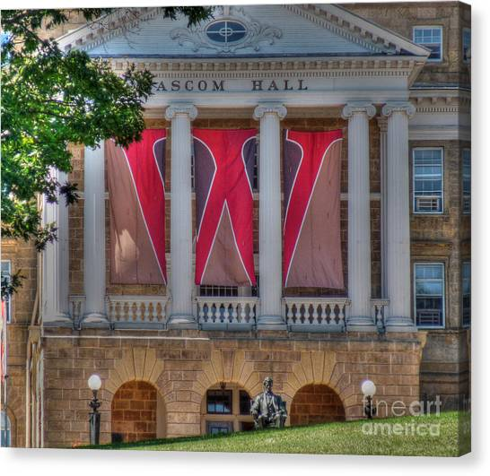 University Of Wisconsin - Madison Canvas Print - Bascom Hall-on Wisconsin by David Bearden
