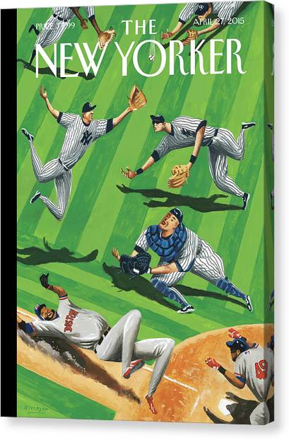 Baseball Ballet Canvas Print