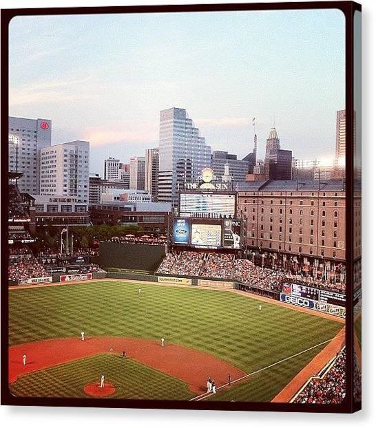 Orioles Canvas Print - #baseball #camdenyards #orioles by Miranda Johnson