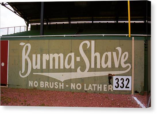 Baseball Field Burma Shave Sign Canvas Print