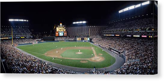 Orioles Canvas Print - Baseball Game Camden Yards Baltimore Md by Panoramic Images