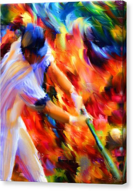 Baseball Players Canvas Print - Baseball IIi by Lourry Legarde