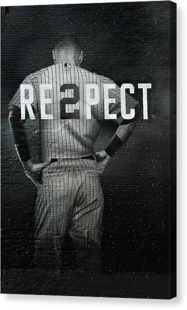 History Canvas Print - Baseball With Jeter by Jewels Hamrick