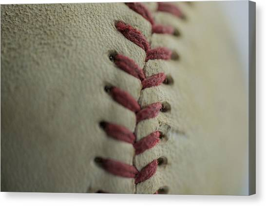 Baseball Macro Canvas Print