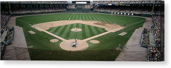Dugout Canvas Print - Baseball Match In Progress, U.s by Panoramic Images