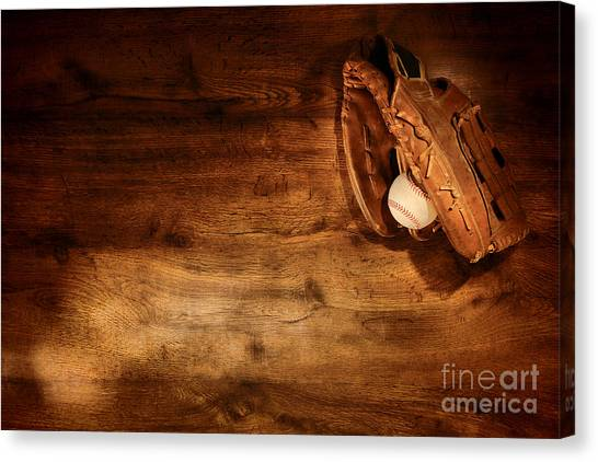 Softball Canvas Print - Baseball by Olivier Le Queinec