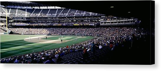Minnesota Twins Canvas Print - Baseball Players Playing Baseball by Panoramic Images