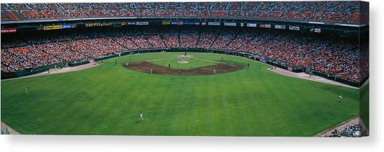 Houston Astros Canvas Print - Baseball Stadium, San Francisco by Panoramic Images