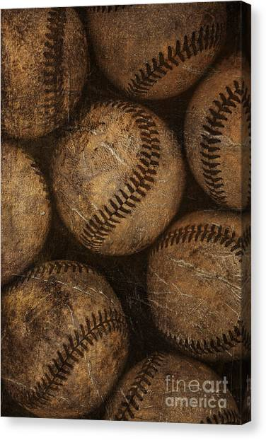 Baseball Canvas Print - Baseballs by Diane Diederich