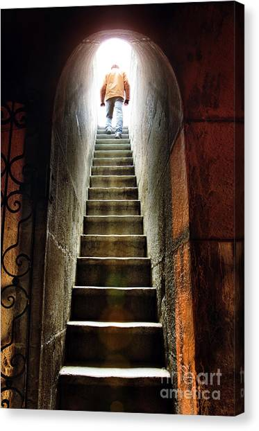 Dungeon Canvas Print - Basement Exit by Carlos Caetano