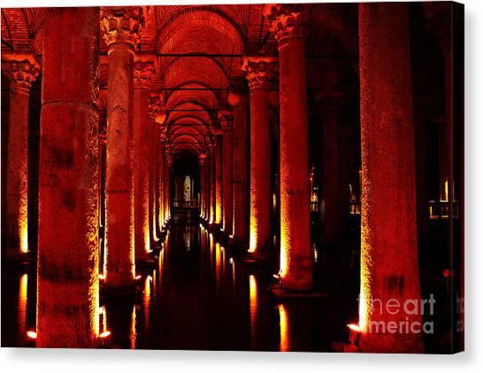 Byzantine Canvas Print - Basilica Cistern by Emily Kay