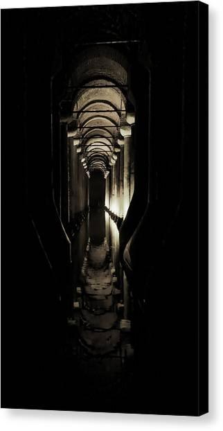 Byzantine Canvas Print - Basilica Cistern by Stephen Stookey