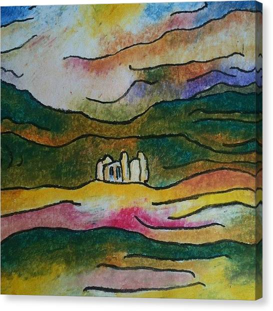 Expressionism Canvas Print - Basilica De Suyapa, Tegucigalpa by Stephen Lock