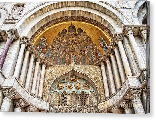 Portal Canvas Print - Basilica Di San Marco by Delphimages Photo Creations