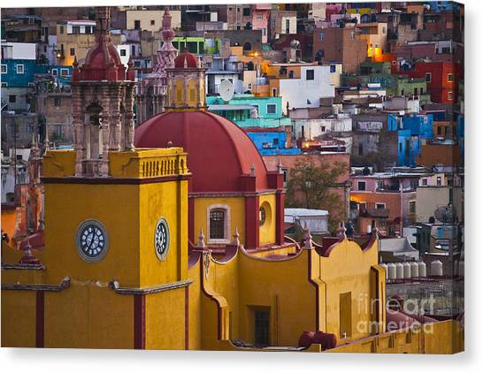Basilica Of Our Lady Of Guanajuato Mexico Canvas Print