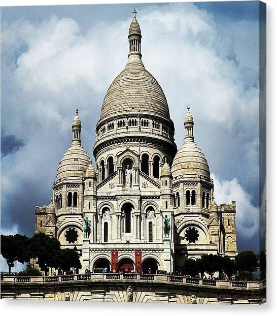Paris Canvas Print - Basilique Du Sacré Coeur, #paris by Luisa Azzolini