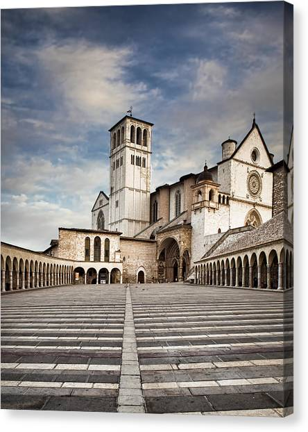 Basillica Of St Francis Of Assisi In Italy Canvas Print
