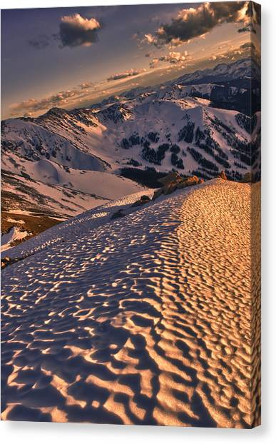 Mountain Canvas Print - Basin From Above by Mike Berenson