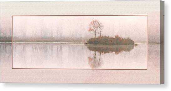Basin Pond Water Color Canvas Print