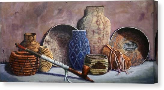 Basket Collection Canvas Print