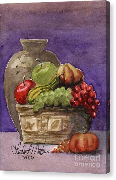 Basket Of Fruit Canvas Print