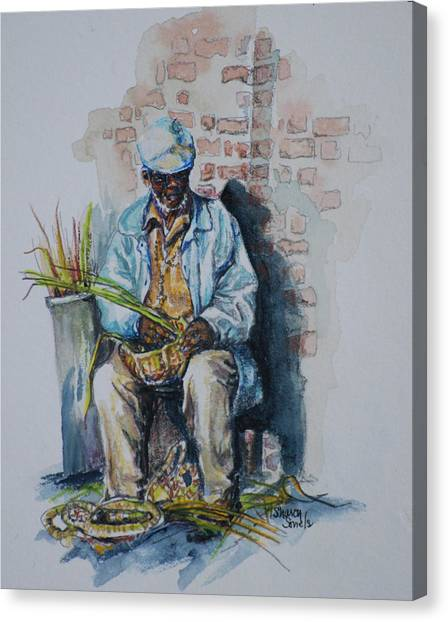 Basket Weaver Canvas Print