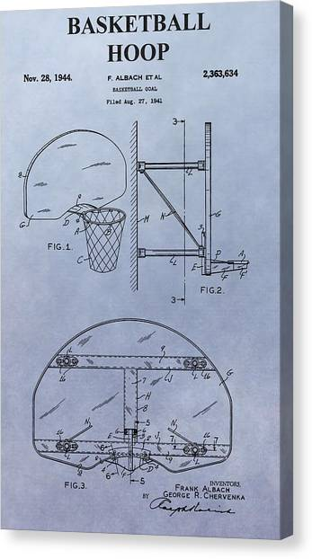 Three Pointer Canvas Print - Basketball Hoop by Dan Sproul