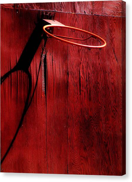Three Pointer Canvas Print - Basketball Hoop by Lane Erickson
