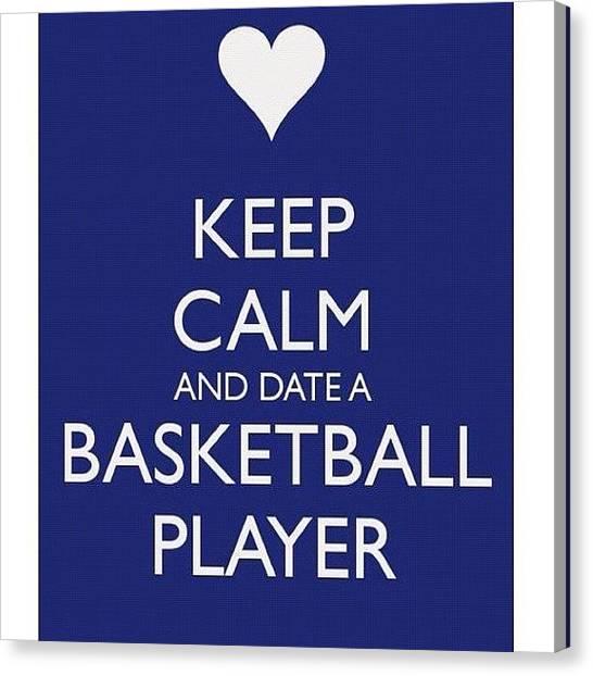 Basketball Players Canvas Print - #basketball #love #heart #blue #tumblr by Momay Estrada