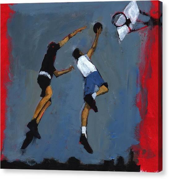 Slam Dunk Canvas Print - Basketball Players by Paul Powis