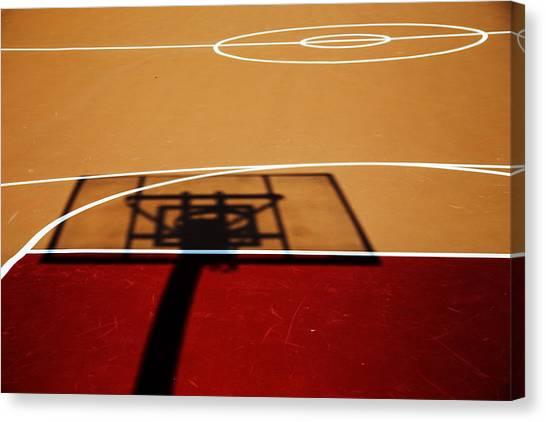 Basketball Teams Canvas Print - Basketball Shadows by Karol Livote
