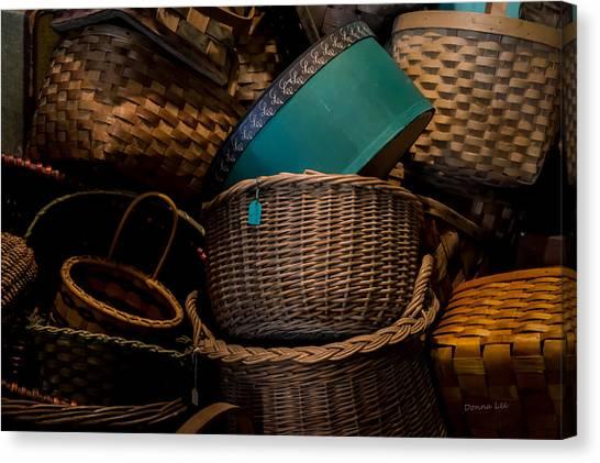 Baskets Galore Canvas Print