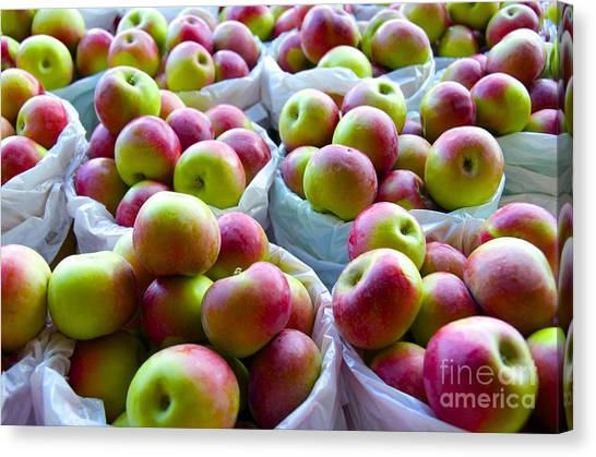 Baskets Of Apples  Canvas Print