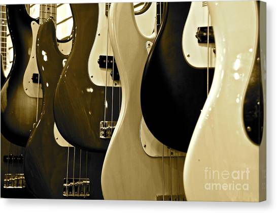 Bass Guitars  Canvas Print