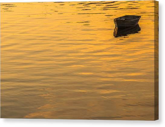 Dinghy Canvas Print - Bass Harbor Dinghy by Joseph Rossbach