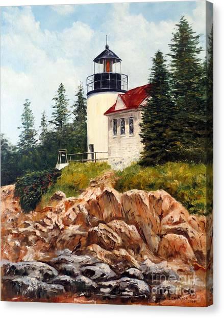Bass Harbor Head Light Canvas Print