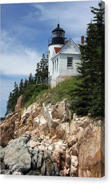 Bass Harbor Light Canvas Print by Acadia Photography