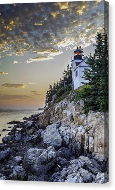 Bass Harbor Light House Canvas Print