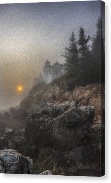 Bass Harbor Mist Canvas Print