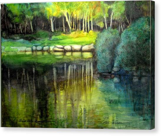 Bass Lake Reflection Canvas Print