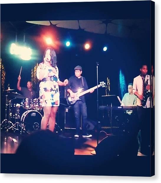 Bass Guitars Canvas Print - #bassplayer #congaroom #performing by Eddie Mendez