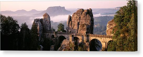 Table Mountain Canvas Print - Bastei, Saxonian Switzerland National by Panoramic Images